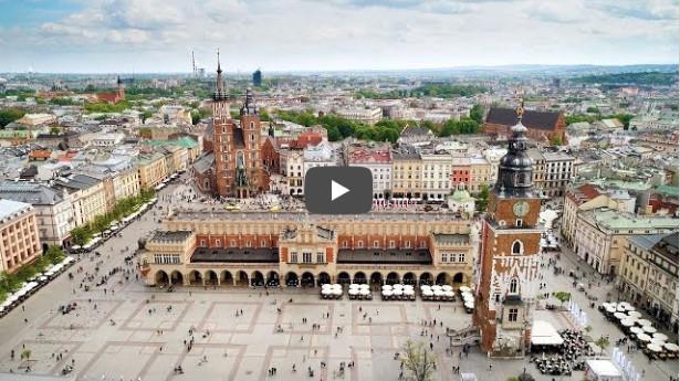 Rynek Główny Kraków z drona 4K